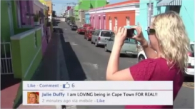 Send your facebook profile to Capetown